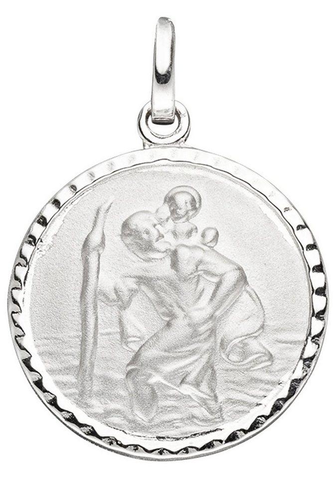 JOBO Runder Anhänger »Schutzpatron Christopherus« rund 925 Silber | Schmuck > Charms > Charms Anhänger | JOBO