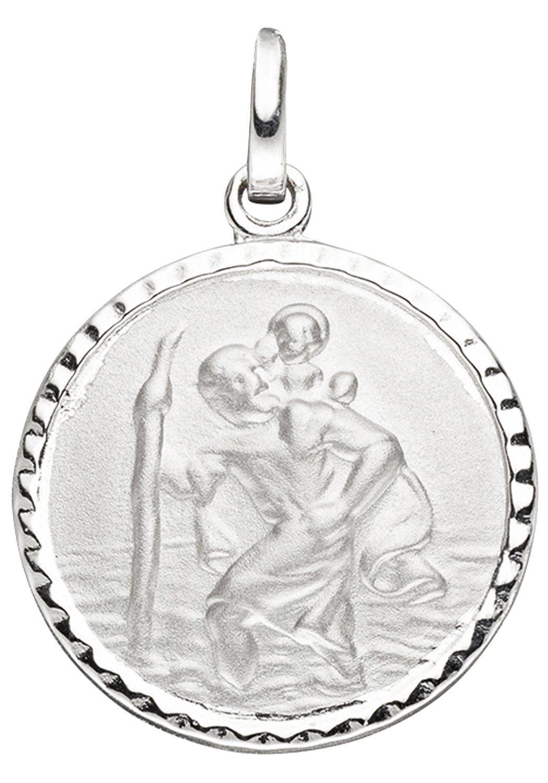 JOBO Runder Anhänger »Schutzpatron Christopherus« rund 925 Silber