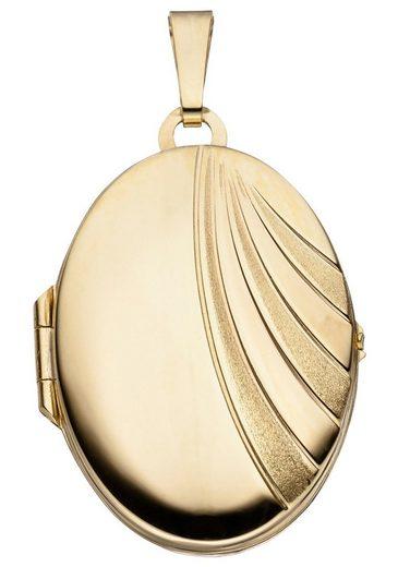 JOBO Medallionanhänger »Medaillon«, oval 333 Gold
