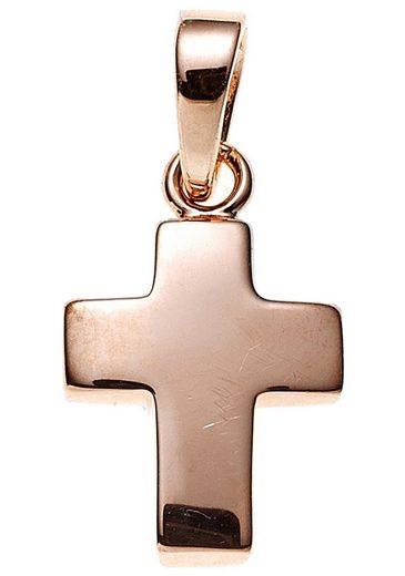JOBO Kreuzanhänger Kreuz 925 Silber roségold vergoldet