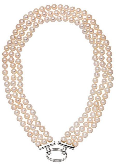 JOBO Perlenkette, 925 Silber mit Süßwasser-Zuchtperlen 45 cm | Schmuck > Halsketten > Perlenketten | Jobo