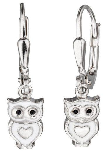 JOBO Paar Ohrhänger »Eule«, 925 Silber
