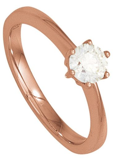 JOBO Solitärring, 585 Roségold mit Diamant 0,50 ct.