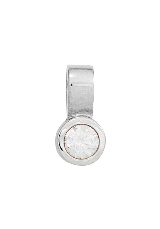 JOBO Kettenanhänger 585 Weißgold mit 1 Diamant