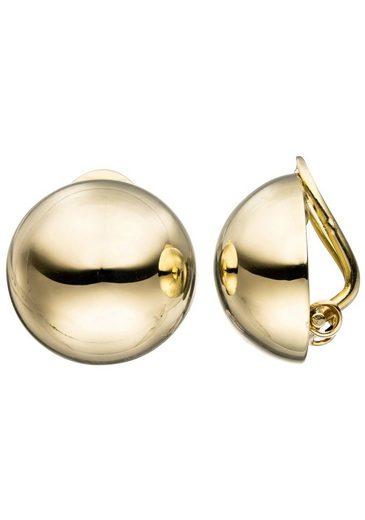 JOBO Paar Ohrclips, rund 333 Gold