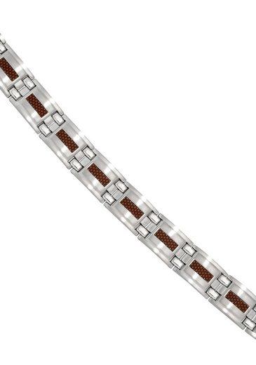 JOBO Armband, Edelstahl mit Carbon 21 cm