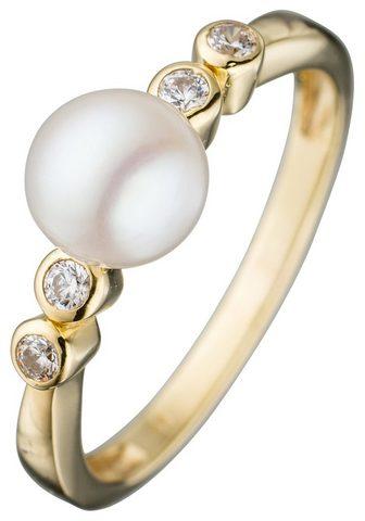 JOBO Žiedas su perlais