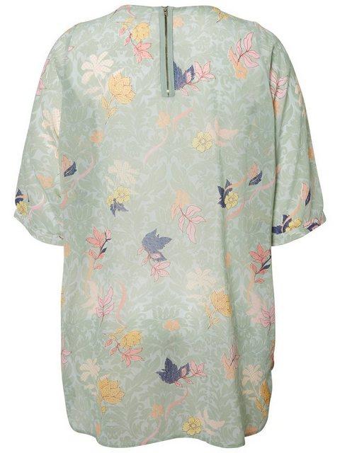 JUNAROSE Blumenprint Tunika | Bekleidung > Tuniken > Sonstige Tuniken | Grün | Polyester | Junarose