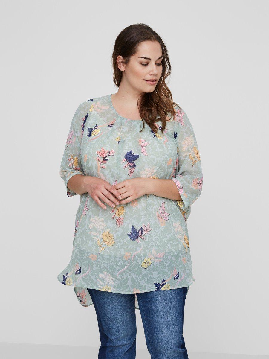JUNAROSE Blumenprint Tunika | Bekleidung > Tuniken > Sonstige Tuniken | Transparent | Polyester | Junarose