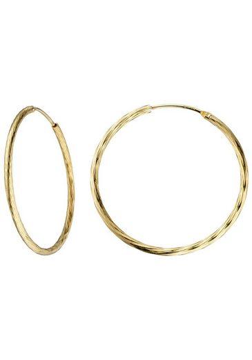 JOBO Paar Creolen 925 Silber vergoldet