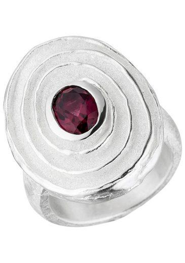 JOBO Silberring, 925 Silber mit Rhodolith