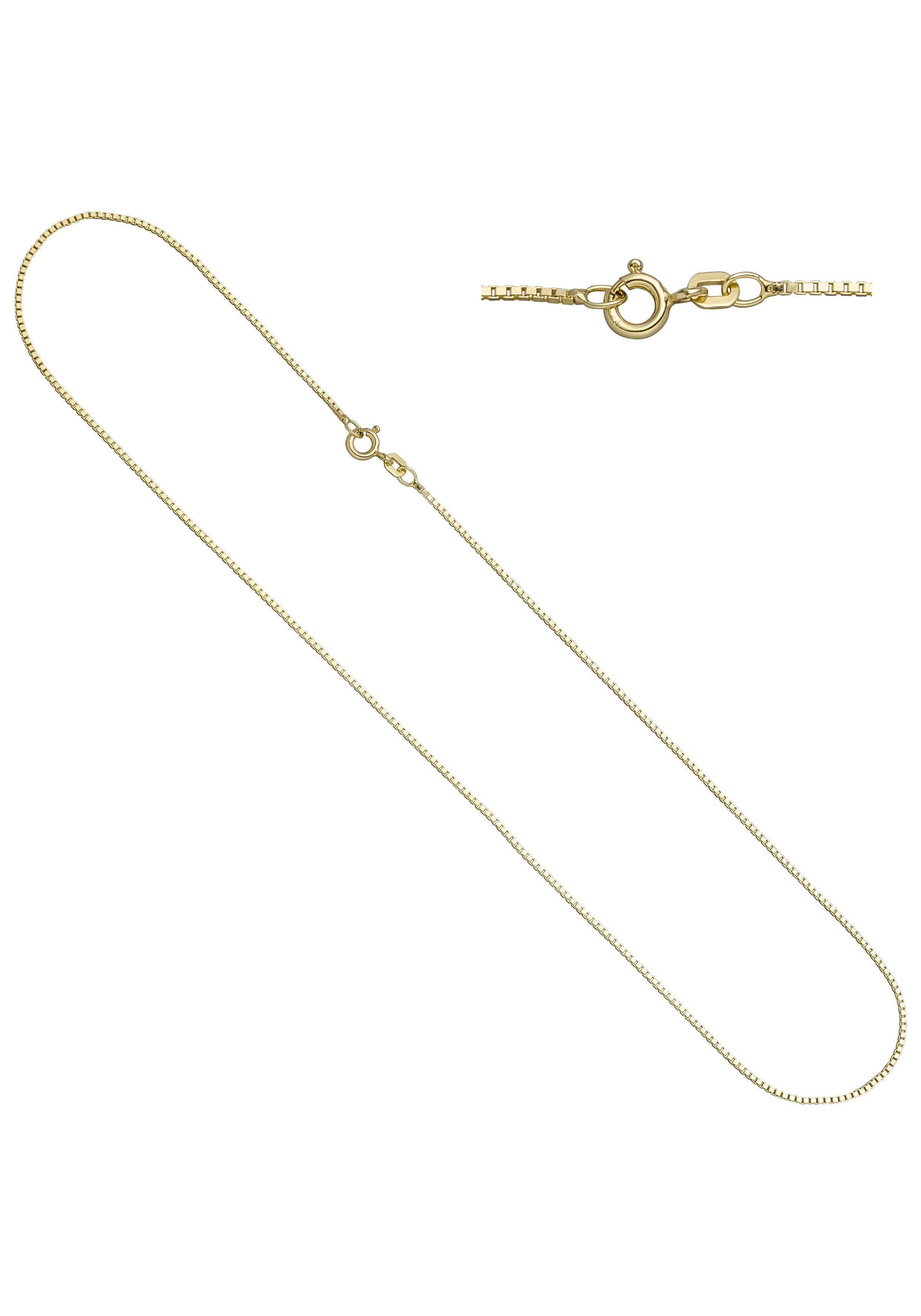 JOBO Kette ohne Anhänger Venezianerkette 925 Silber vergoldet 45 cm 0,9 mm