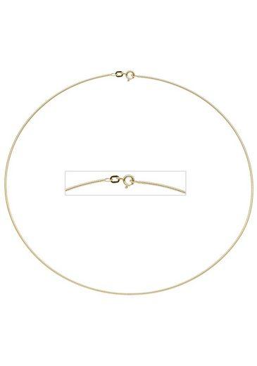 JOBO Halsreif, 925 Silber vergoldet 42 cm 1,1 mm