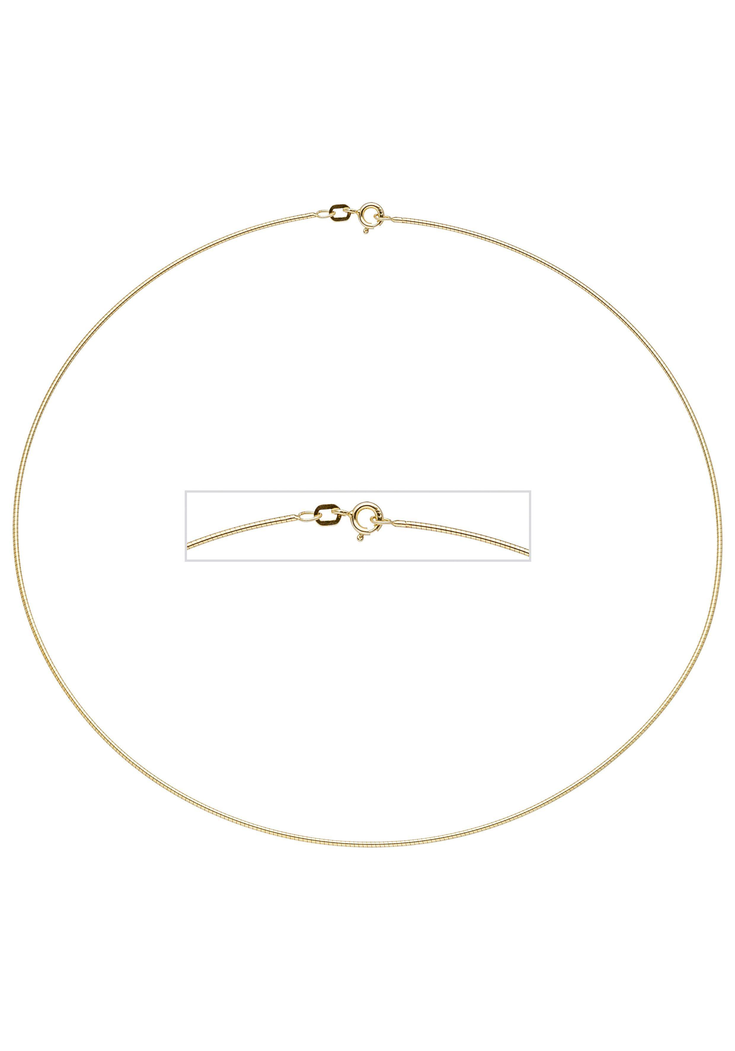 JOBO Halsreif 925 Silber vergoldet 45 cm 1,1 mm