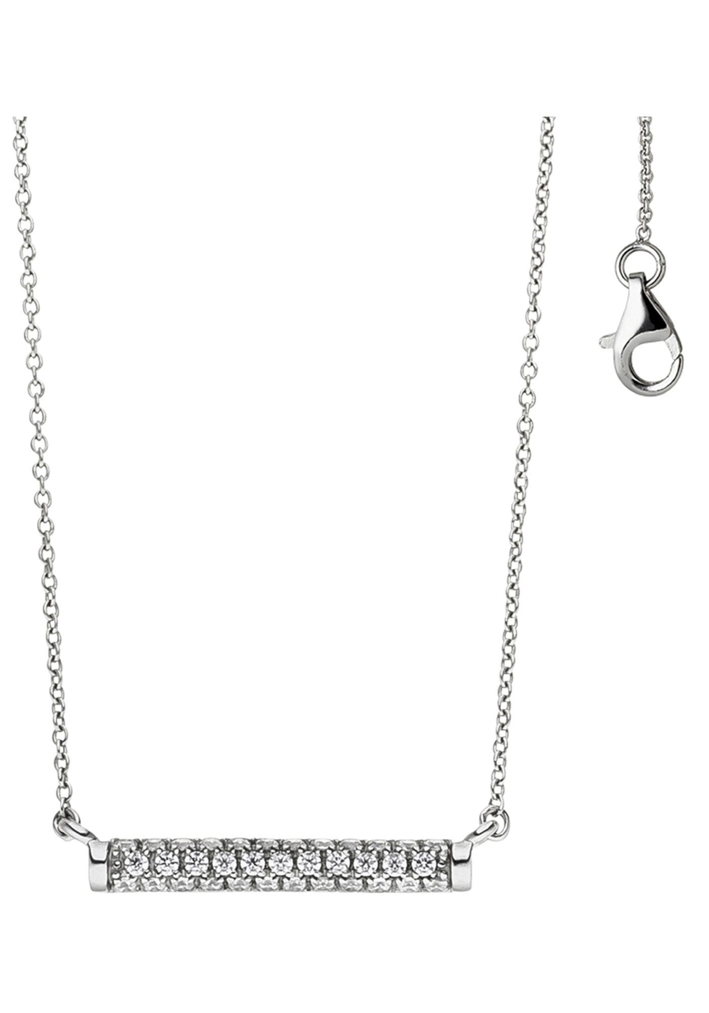JOBO Collier 925 Silber mit Zirkonia 45 cm