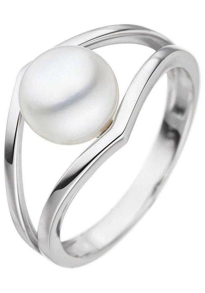 Ehering für Frauen 18 Karat Gelbgold überzogener weißer Perlenring Größe @vt
