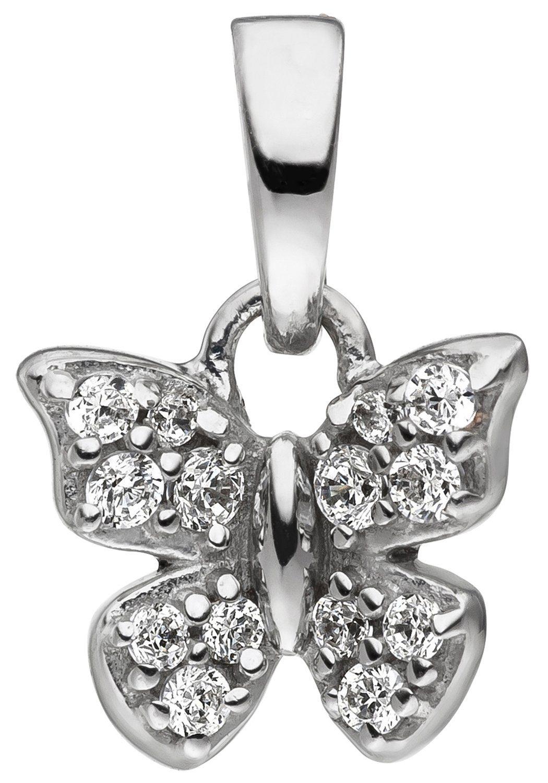 JOBO Schmetterlingsanhänger »Schmetterling« 925 Silber mit Zirkonia