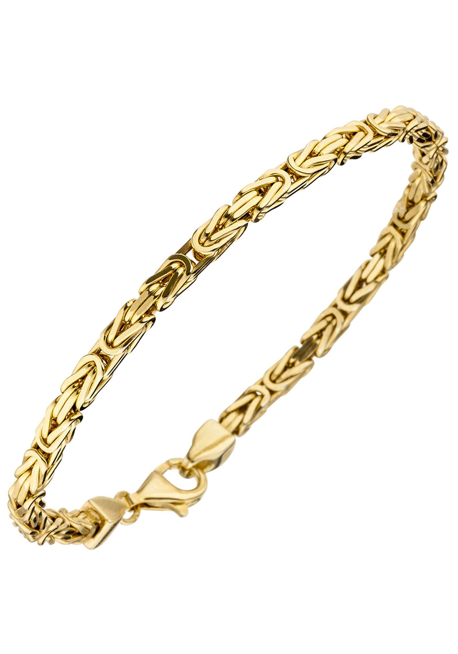 JOBO Armband Königsarmband 925 Silber vergoldet 19 cm