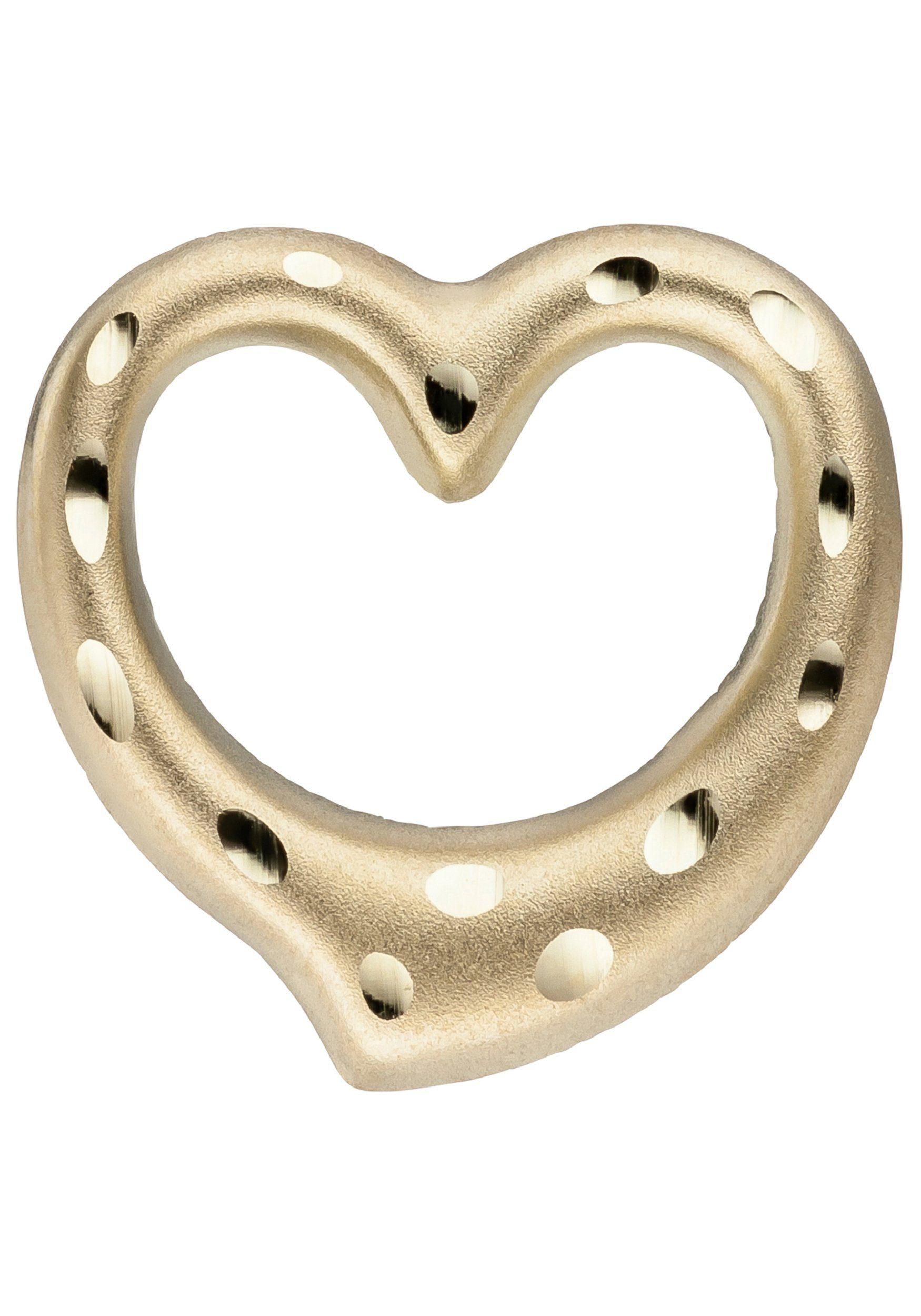 JOBO Herzanhänger »Herz« 375 Gold diamantiert