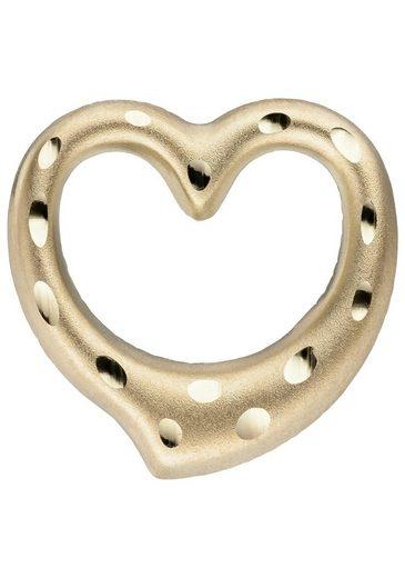 JOBO Herzanhänger »Herz«, 375 Gold diamantiert