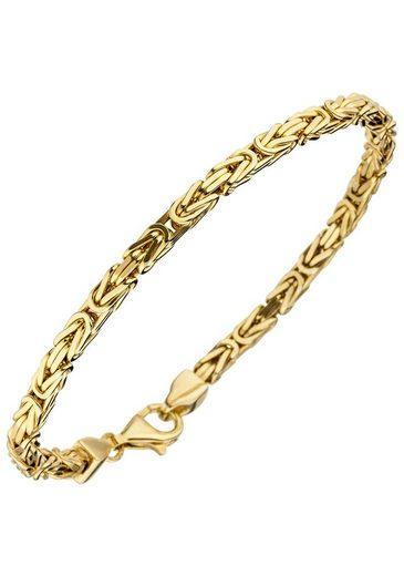 JOBO Armband, Königsarmband 925 Silber vergoldet 21 cm