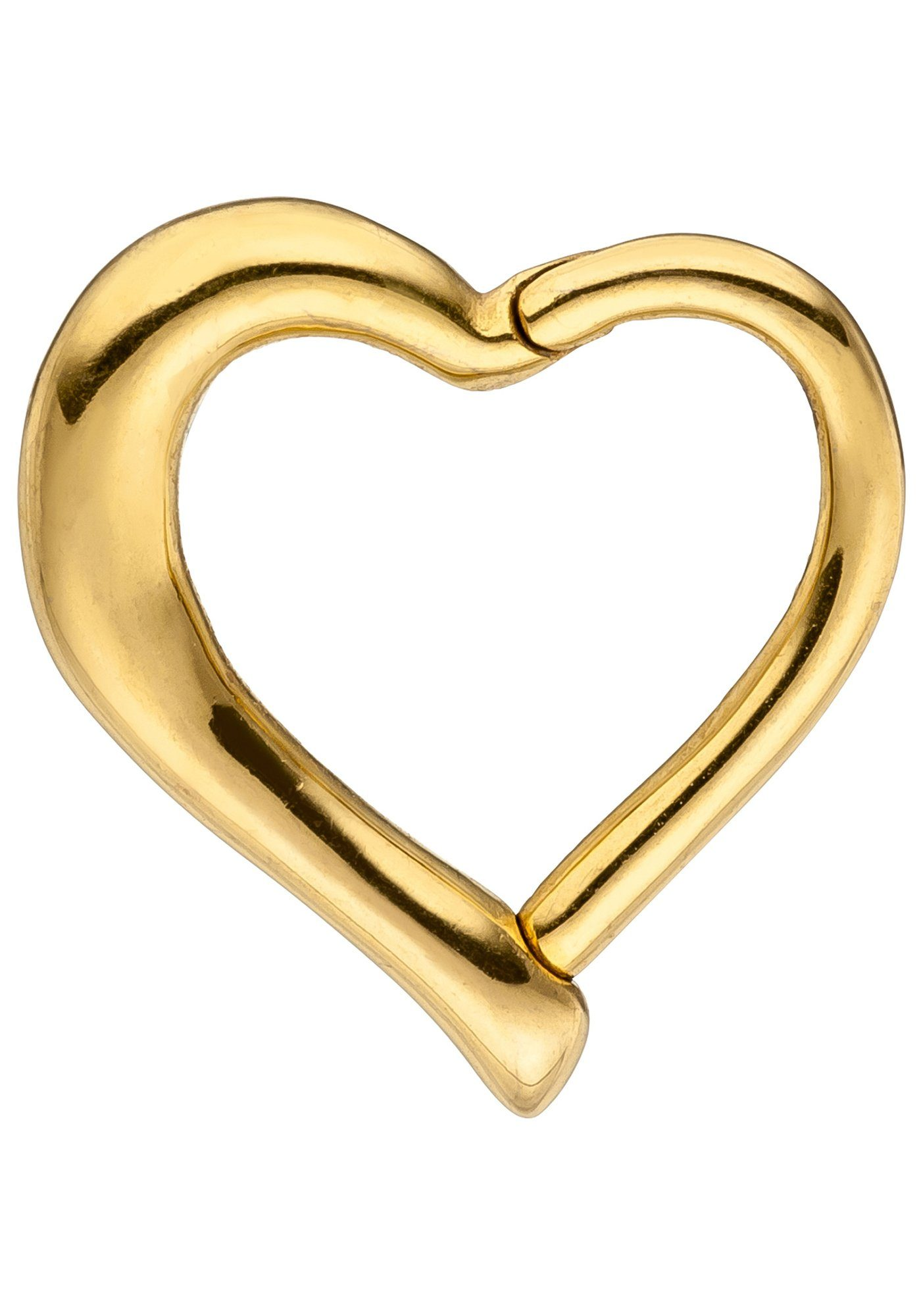 JOBO Nasenpiercing Segmentring Herz Edelstahl goldfarben