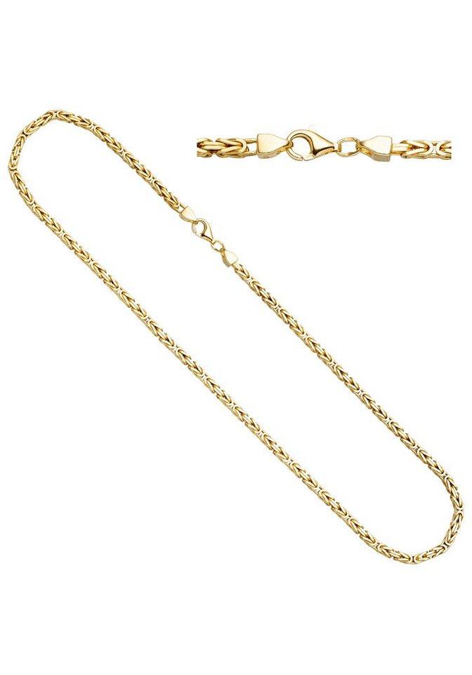 JOBO Kette ohne Anhänger Königskette 925 Silber vergoldet 45 cm ... 484d572e94