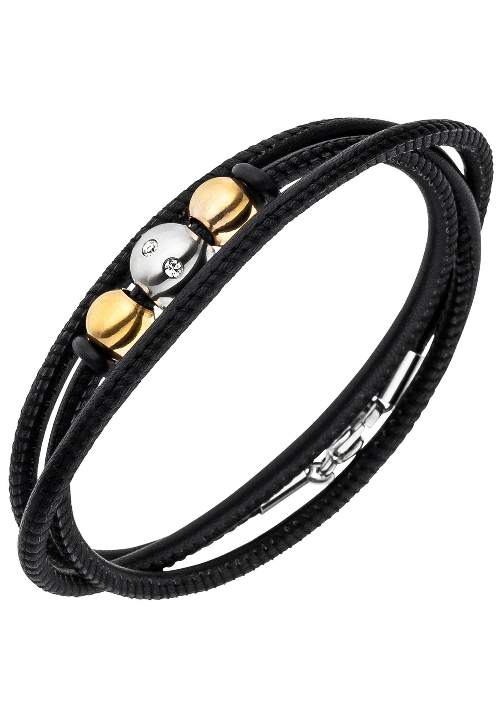 Treu Diesel Herren Armband Schwarz Echt Leder Knopfverschluss A-ruler Bracelet