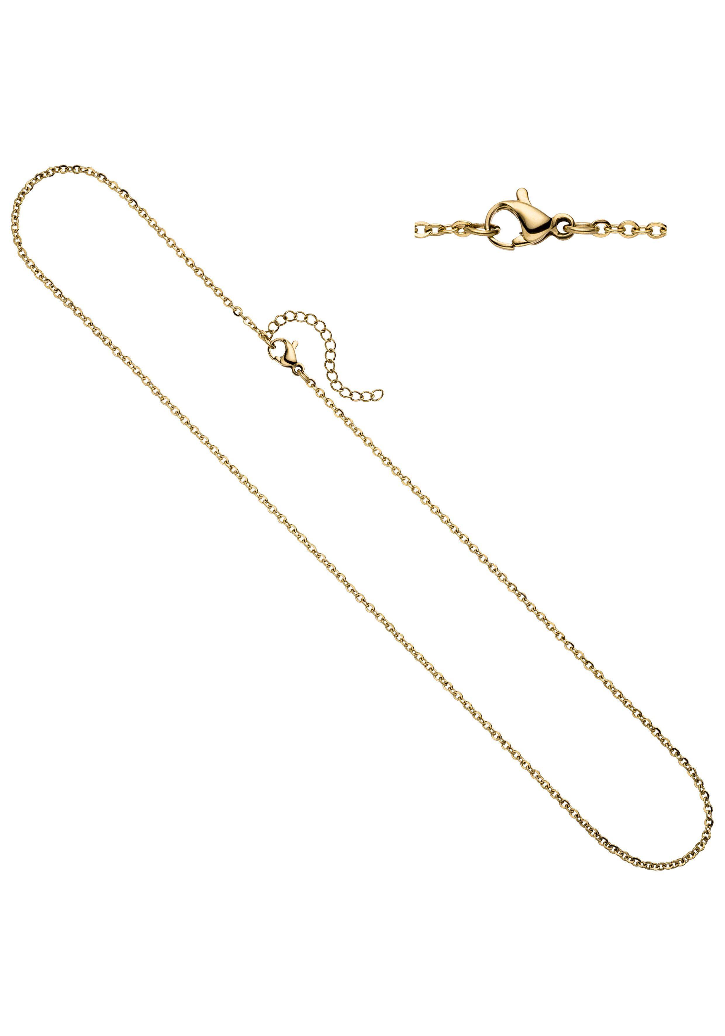 JOBO Kette ohne Anhänger Edelstahl goldfarben 46 cm 47 cm 1,9 mm