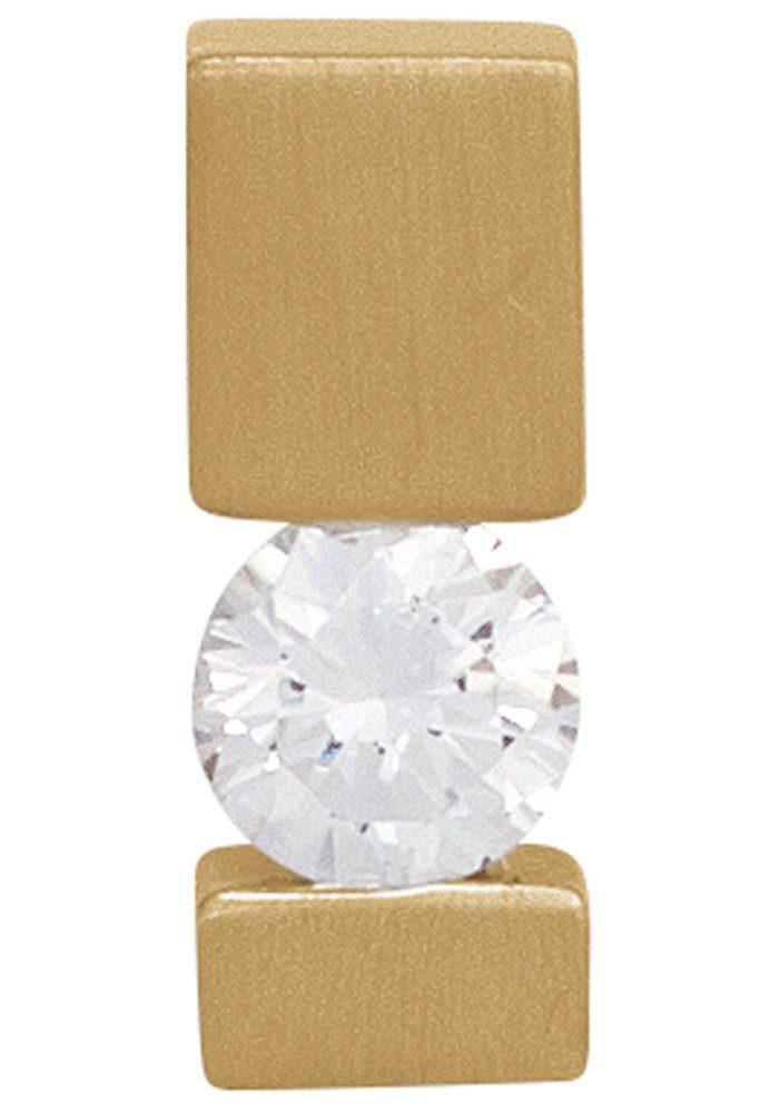 JOBO Kettenanhänger, 585 Gold mit 1 Diamant