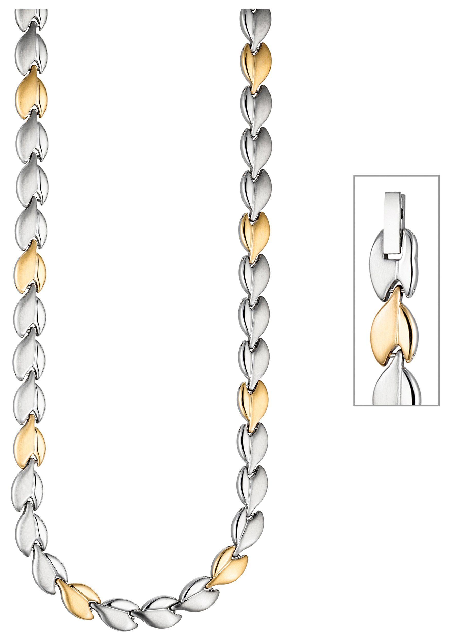 JOBO Collier Edelstahl goldfarben bicolor 45 cm