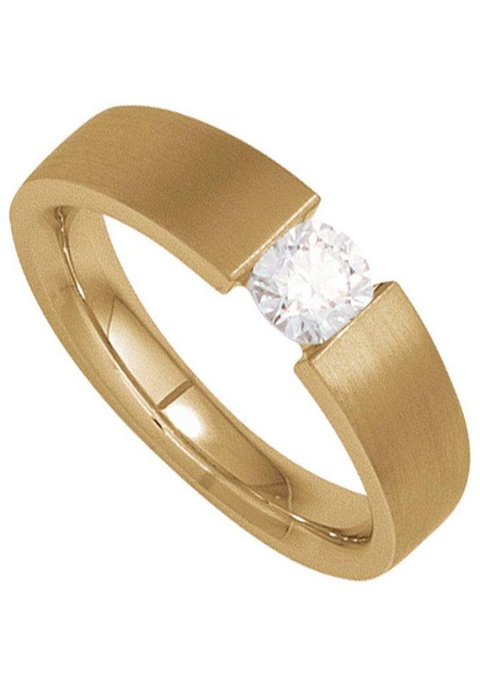 JOBO Solitärring 585 Gold mit 1 Diamant | Schmuck > Ringe > Diamantringe | Goldfarben | Si | JOBO