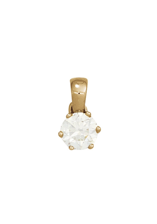 JOBO Kettenanhänger 585 Gold mit 1 Diamant