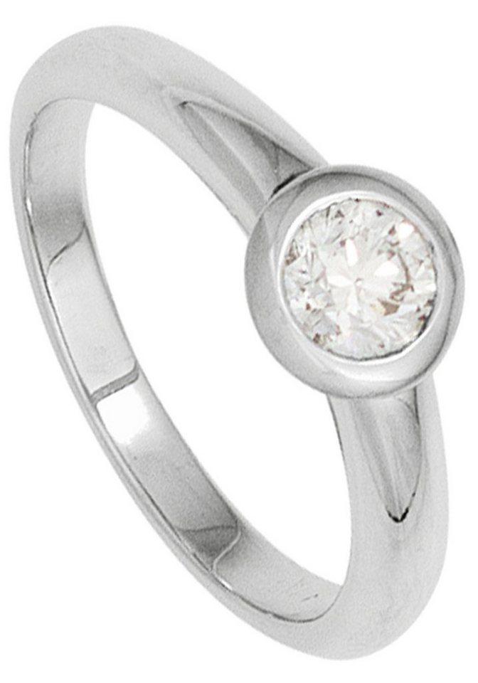 JOBO Solitärring 585 Weißgold mit 1 Diamant | Schmuck > Ringe > Diamantringe | Si | JOBO