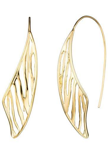 JOBO Paar Ohrhänger, 925 Silber vergoldet
