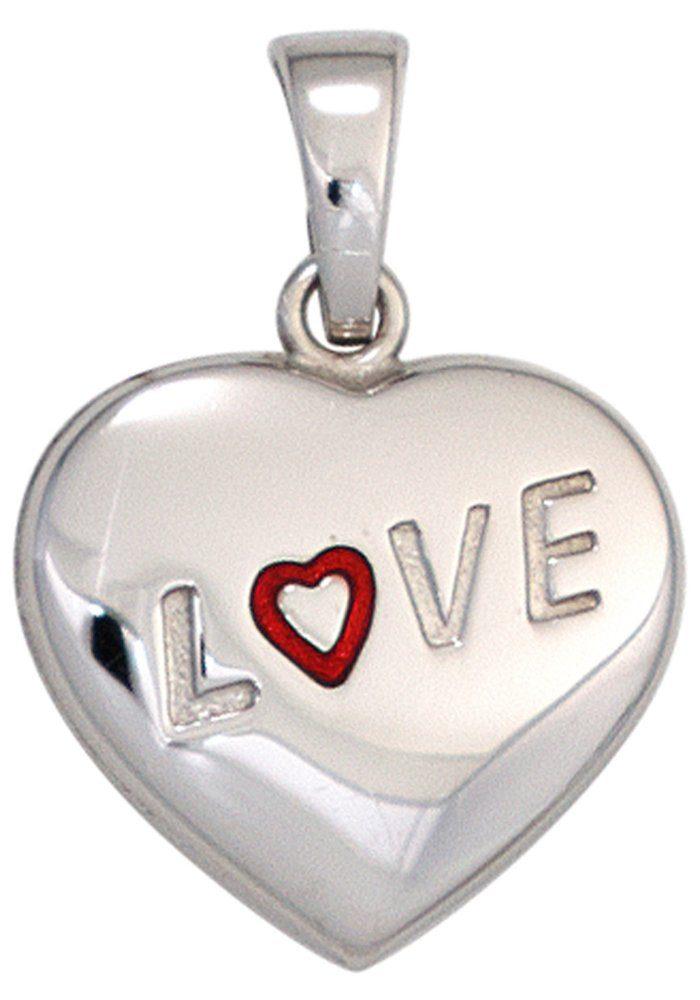 JOBO Herzanhänger »Love Liebe« 925 Silber