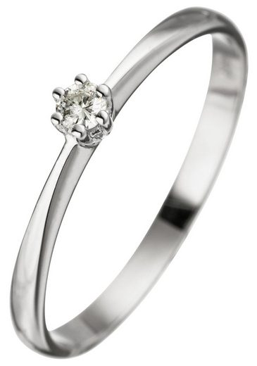 JOBO Diamantring, 585 Weißgold mit Diamant