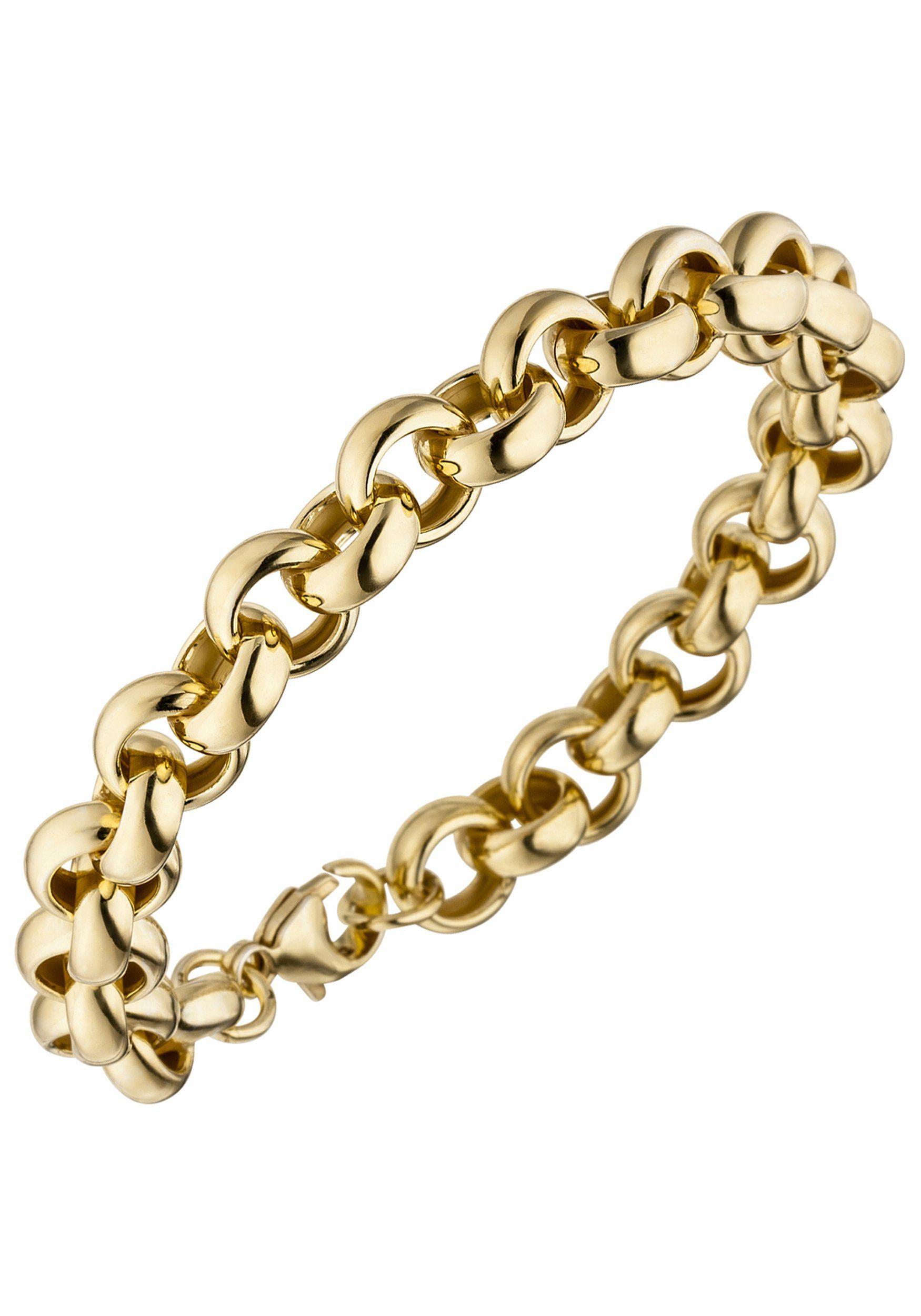 JOBO Armband 925 Silber vergoldet 21 cm