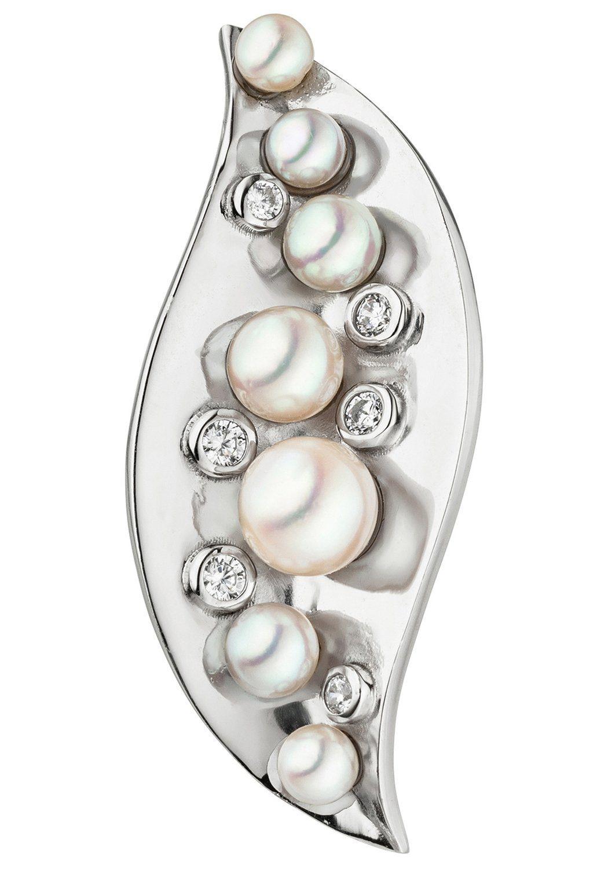 JOBO Perlenanhänger 925 Silber mit Akoya-Zuchtperlen und Zirkonia