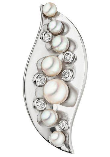 JOBO Perlenanhänger, 925 Silber mit Akoya-Zuchtperlen und Zirkonia