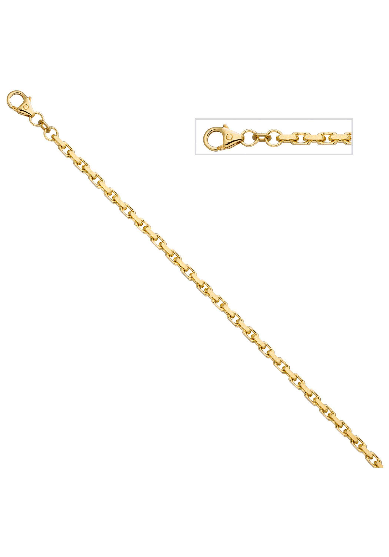 JOBO Goldarmband Ankerarmband 585 Gold diamantiert 21 cm