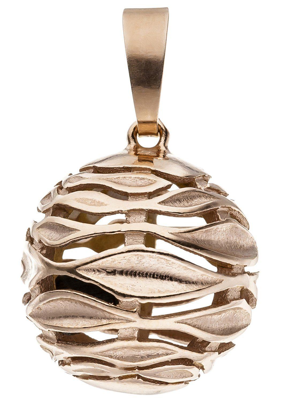 JOBO Kugelanhänger »Kugel« 925 Silber roségold vergoldet