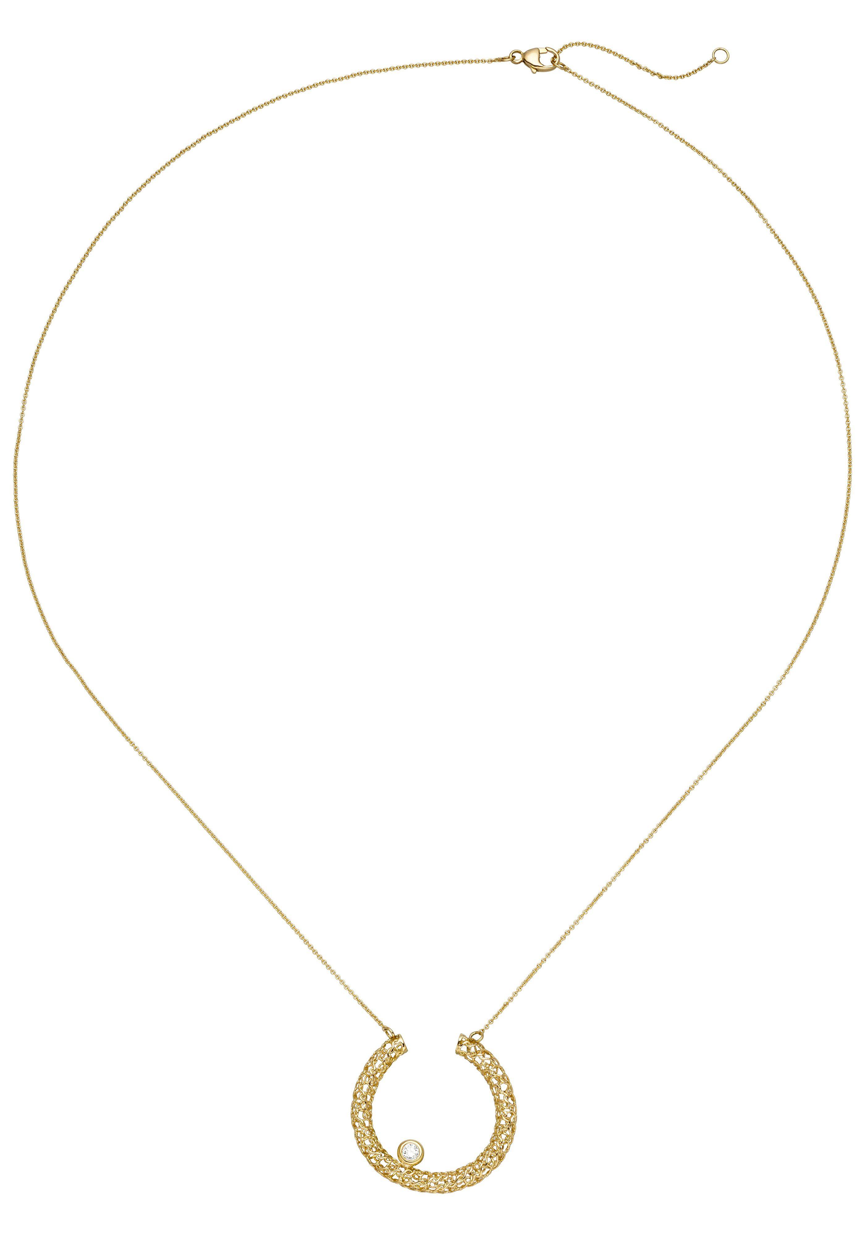 JOBO Collier 750 Gold mit 1 Diamant 45 cm