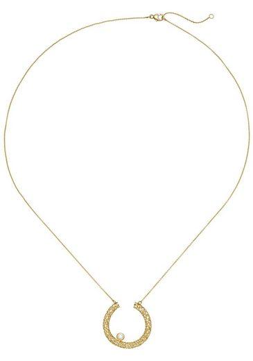 JOBO Collier, 750 Gold mit 1 Diamant 45 cm