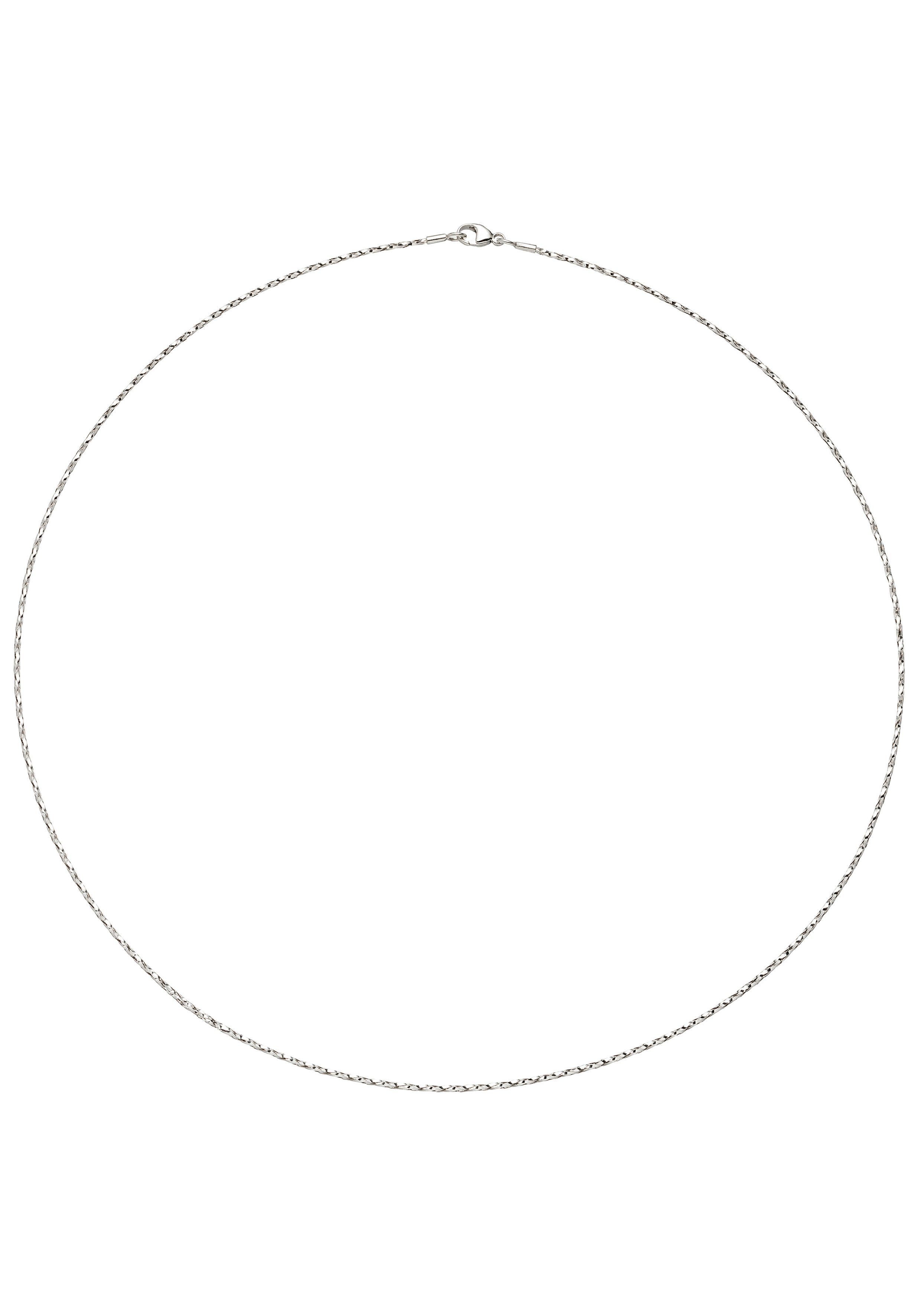 JOBO Collier 750 Weißgold diamantiert 42 cm 1,0 mm