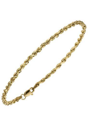 JOBO Goldarmband, Kordelarmband 585 Gold 21 cm