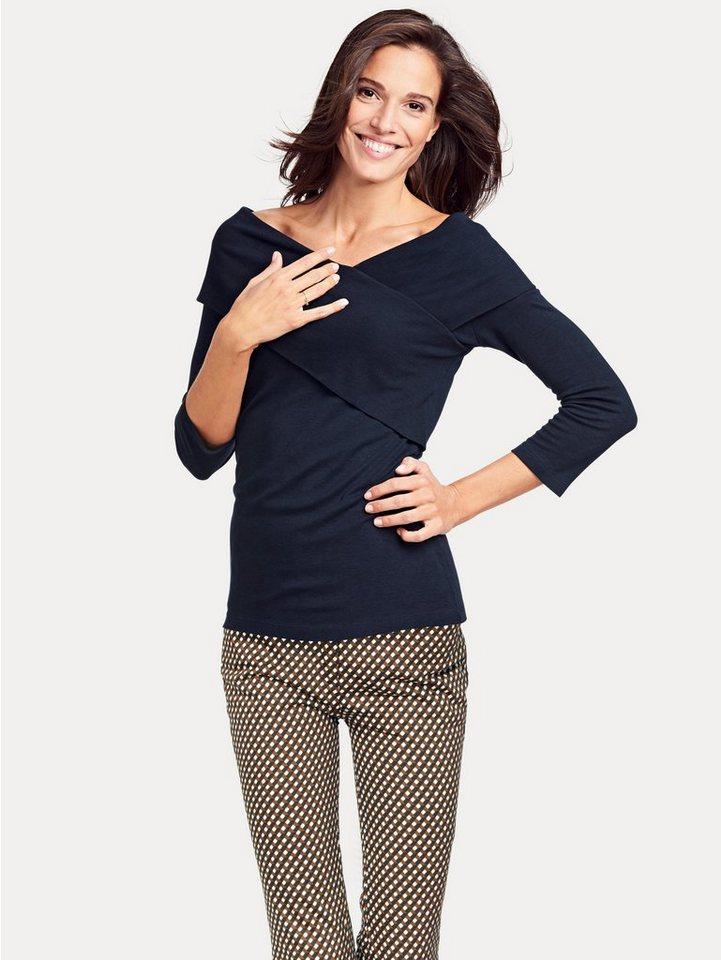 heine TIMELESS Wickelshirt 3/4-Arm | Bekleidung > Shirts > Wickelshirts | Blau | heine