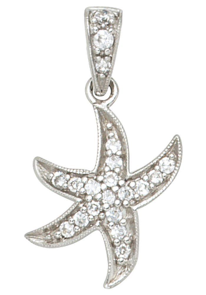 JOBO Kettenanhänger »Seestern« 925 Silber mit Zirkonia