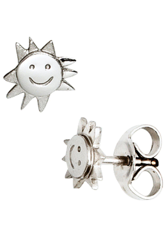 JOBO Paar Ohrstecker »Sonne« 925 Silber