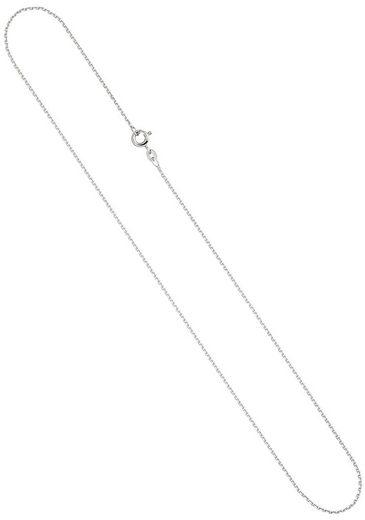 JOBO Goldkette, Ankerkette 333 Weißgold 42 cm 1,6 mm